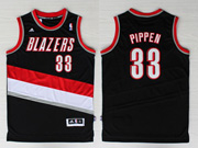 Mens Nba Portland Trail Blazers #33 Pippen Black Revolution 30 Jersesy (p)