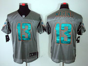 Mens Nfl Miami Dolphins #13 Marino Gray Shadow Elite Jersey