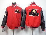 Mens Nhl Ottawa Senators Men Embroidered Cotton Button Red Jacket