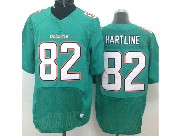 Mens Nfl Miami Dolphins #82 Hartline Green (2013 New) Elite Jersey