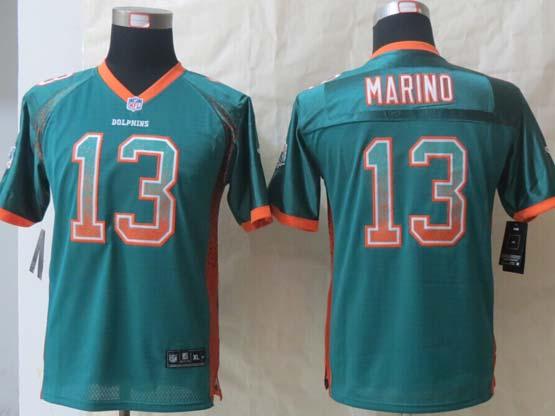 Youth Nfl Miami Dolphins #13 Marino Green 2014 Drift Fashion Elite Jersey