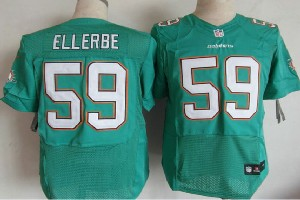 Mens Nfl Miami Dolphins #59 Ellerbe Green (2013 New) Elite Jersey