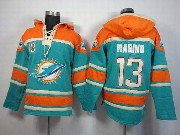 Mens Nfl Miami Dolphins #13 Marino Green (team Hoodie) Jersey