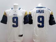Mens Nfl St. Louis Rams #9 Davis White Elite Jersey