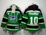youth nhl hartford whalers #10 francis green c patch hoodie Jersey