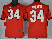Youth Ncaa Nfl Georgia Bulldogs #34 Walker Red Sec Limited Jersey