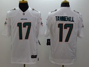 Mens Nfl Miami Dolphins #17 Tannehill White (2013 New) Limited Jersey