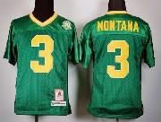 Youth Ncaa Nfl Notre Dame Fighting Irish #3 Montana Green (30th) Elite Jersey Gz