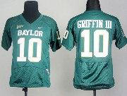 Youth Ncaa Nfl Baylor Bears #10 Griffin Iii Green Jersey