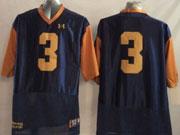 Mens Ncaa Nfl Notre Dame Fighting Irish #3 Montana Dark Blue (2014 New Gold Number) Jersey