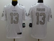 Mens Nfl Miami Dolphins #13 Marino White (silver Number) Platinum Limited Jersey