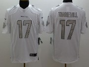 Mens Nfl Miami Dolphins #17 Tannehill White (silver Number) Platinum Limited Jersey