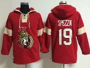 Mens nhl ottawa senators #19 spezza red (new single color) hoodie Jersey