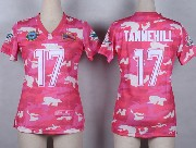 Women  Nfl Miami Dolphins #17 Tannehill Pink Camo Game Jersey