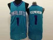 Mens Nba Charlotte Hornets #1 Stephenson Teal Jersey