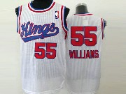 Mens Nba Sacramento Kings #55 Williams White (red Number) Jersey (m)