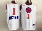 Mens Nba New York Knicks #1 Amar,e (2014 New Christmas) White Jersey