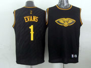 Mens Nba Charlotte Hornets #1 Evans Black Precious Metals Fashion Swingman Jersey