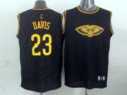 Mens Nba Charlotte Hornets #23 Davis Black Precious Metals Fashion Swingman Jersey