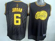 Mens Nba Los Angeles Clippers #6 Jordan Black Precious Metals Fashion Swingman Jersey