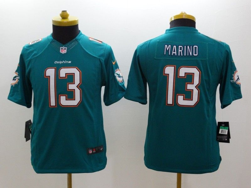 Youth Nfl Miami Dolphins #13 Marino Green (2013 New) Limited Jersey