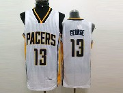Mens Nba Indiana Pacers #13 George White (new Mesh) Jersey