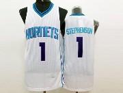 Mens Nba Charlotte Hornets #1 Stephenson White Jersey