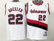 Mens Nba Portland Trail Blazers #22 Drexler White (blazers) Throwbacks Jersesy