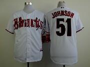 Mens Mlb Arizona Diamondbacks #51 Randy Johnson White Jersey