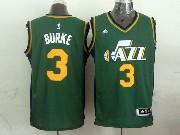 Mens Nba Utah Jazz #3 Burke Green Revolution 30 Jersey (p)