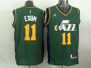 Mens Nba Utah Jazz #11 Exum Green Revolution 30 Jersey (p)