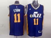 Mens Nba Utah Jazz #11 Exum Purple Revolution 30 Jersey (p)
