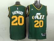 Mens Nba Utah Jazz #20 Hayward Green Revolution 30 Jersey (p)