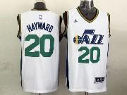 Mens Nba Utah Jazz #20 Hayward White Revolution 30 Jersey (p)