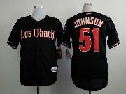 Mens Mlb Arizona Diamondbacks #51 Randy Johnson Black Jersey