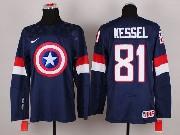 Mens nhl captain america #81 kessel blue Jersey