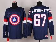Mens nhl captain america #67 pacioretty blue Jersey