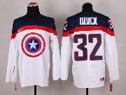 Mens nhl captain america #32 quick white Jersey