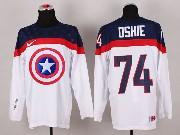 Mens nhl captain america #74 oshie white Jersey