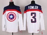 Mens nhl captain america #3 fowler white Jersey