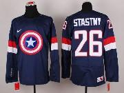 Mens nhl captain america #26 stastny blue Jersey