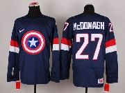 Mens nhl captain america #27 mcddnagh blue Jersey