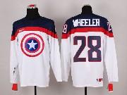 Mens nhl captain america #28 wheeler white Jersey
