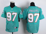 Mens Nfl Miami Dolphins #97 Phillips Green Elite Jersey