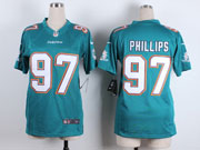 Women  Nfl Miami Dolphins #97 Phillips Green Game Jersey