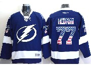 Mens Reebok Nhl Tampa Bay Lightning #77 Hedman Blue (usa Flag Fashion) Jersey