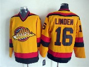 Mens nhl vancouver canucks #16 linden yellow throwbacks Jersey