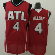 Mens Nba New Styles Atlanta Hawks #4 Millsap Red Jersey