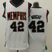 Mens Nba Memphis Grizzlies #42 Wright White Jersey