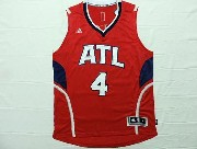 Mens Nba Atlanta Hawks #4 Millsap Red Throwback Jersey